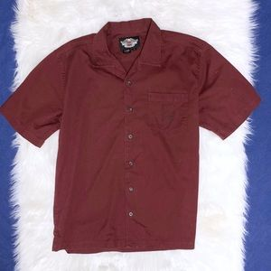 Harley Davidson Short Sleeve Button Front Shirt L